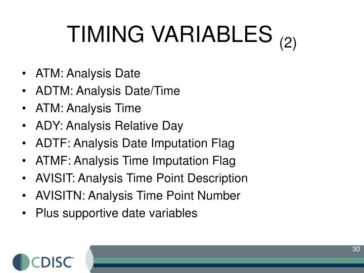 TIMING VARIABLES