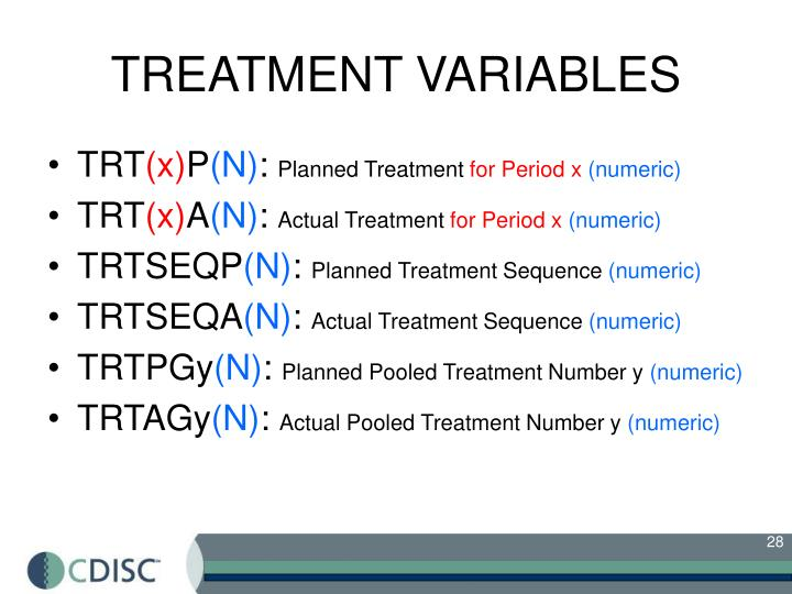 TREATMENT VARIABLES