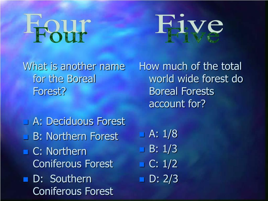 What is another name for the Boreal Forest?