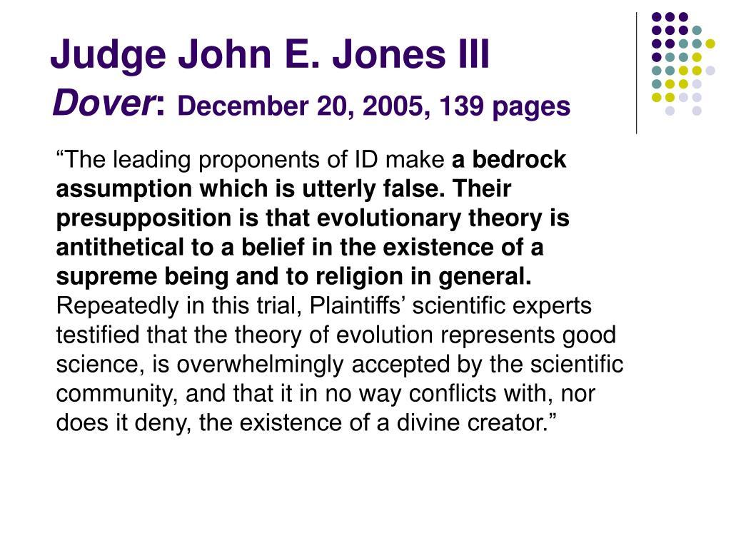 Judge John E. Jones III
