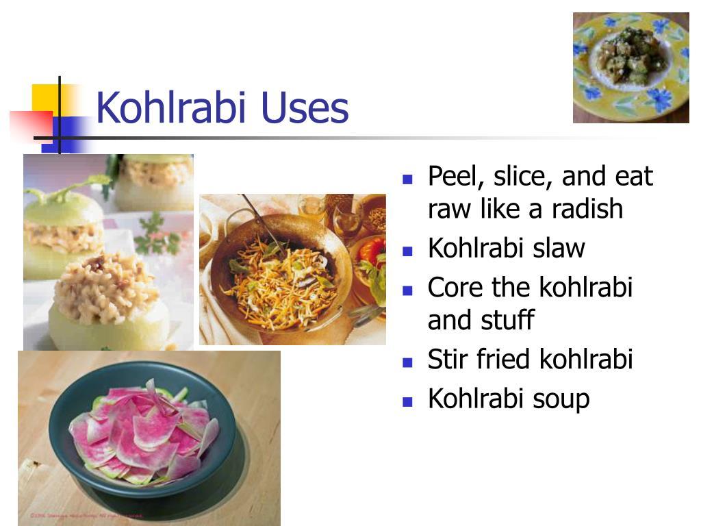 Kohlrabi Uses