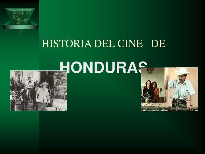 HISTORIA DEL CINE   DE