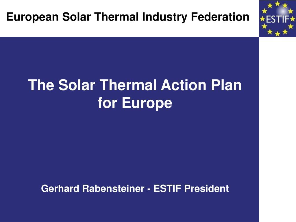 European Solar Thermal Industry Federation
