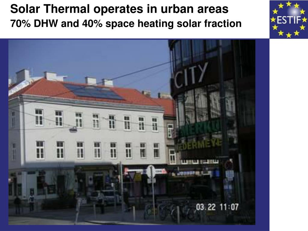 Solar Thermal operates in urban areas
