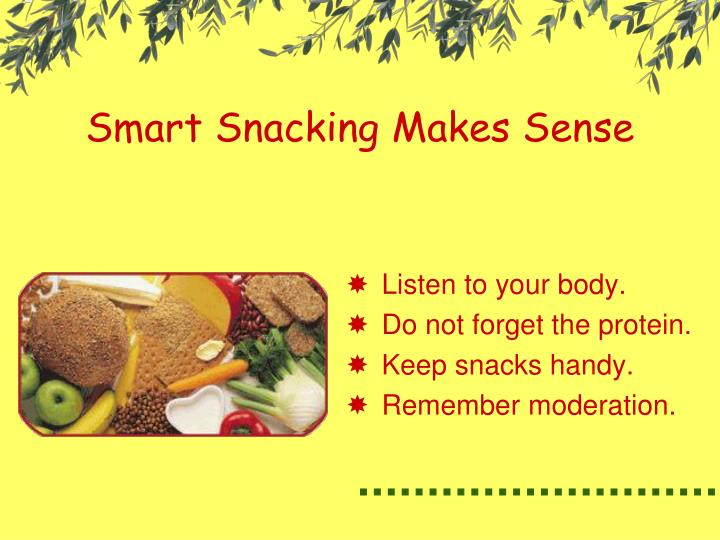Smart Snacking Makes Sense