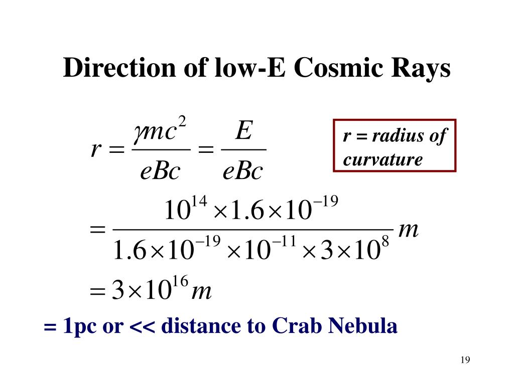 Direction of low-E Cosmic Rays