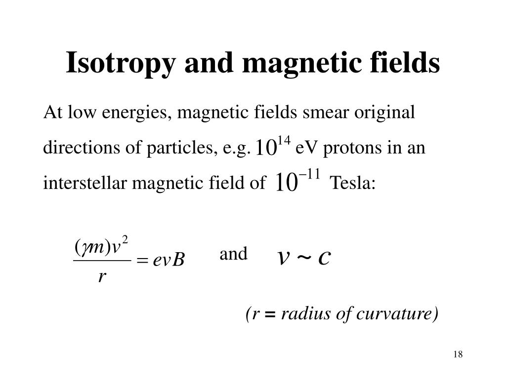 Isotropy and magnetic fields
