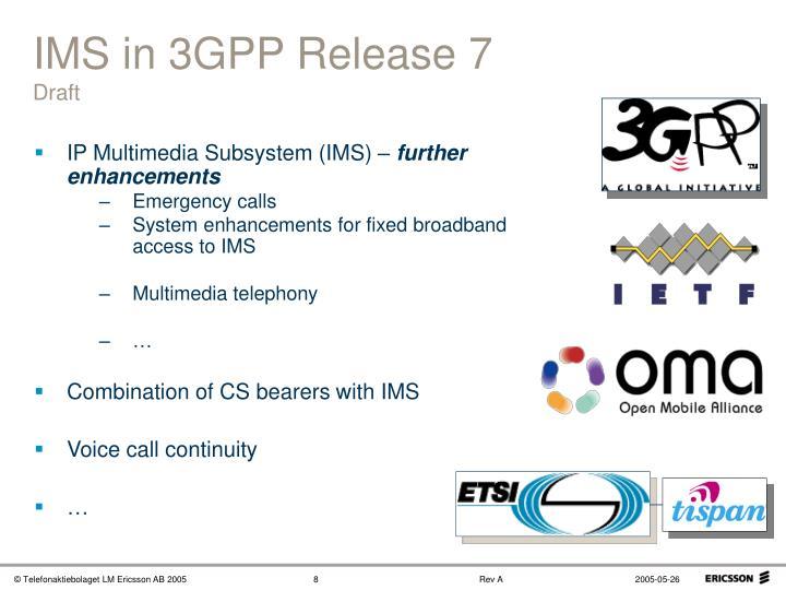 IMS in 3GPP Release 7