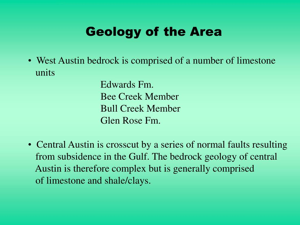 Geology of the Area
