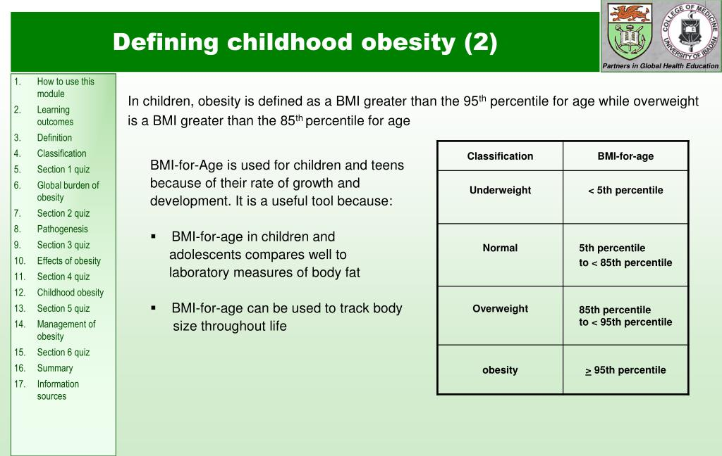 Defining childhood obesity (2)