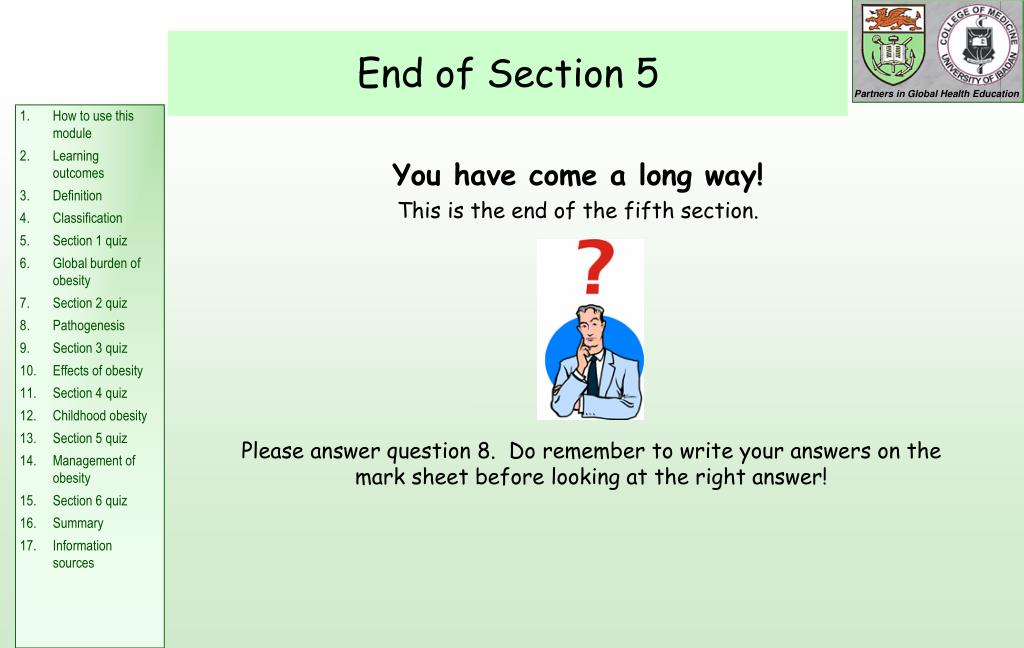 End of Section 5