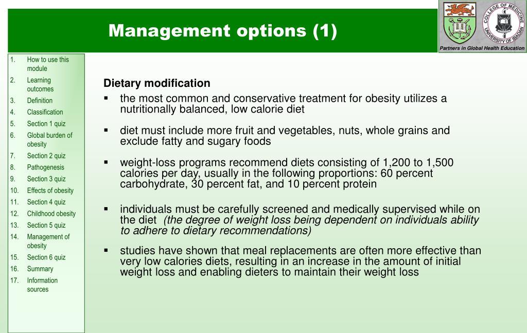 Dietary modification
