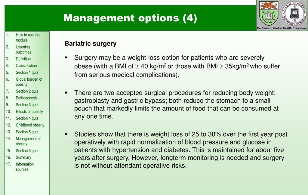 Management options (4)