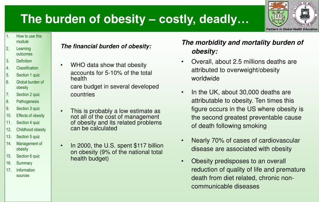 The financial burden of obesity: