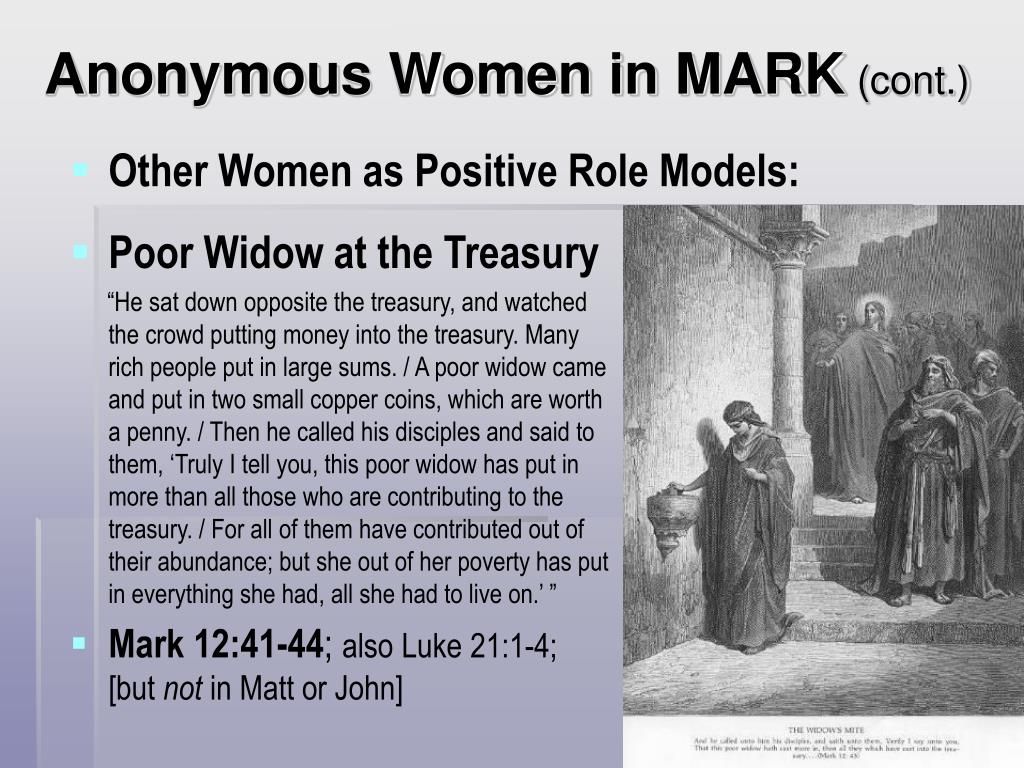 Anonymous Women in MARK