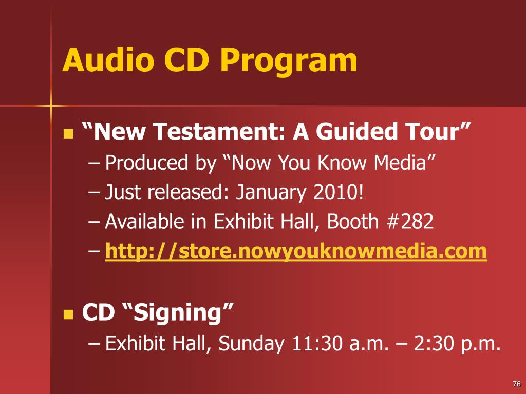 Audio CD Program