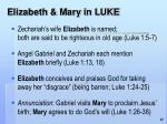 elizabeth mary in luke