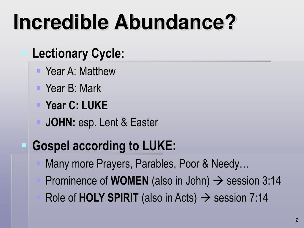 Incredible Abundance?
