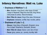 infancy narratives matt vs luke