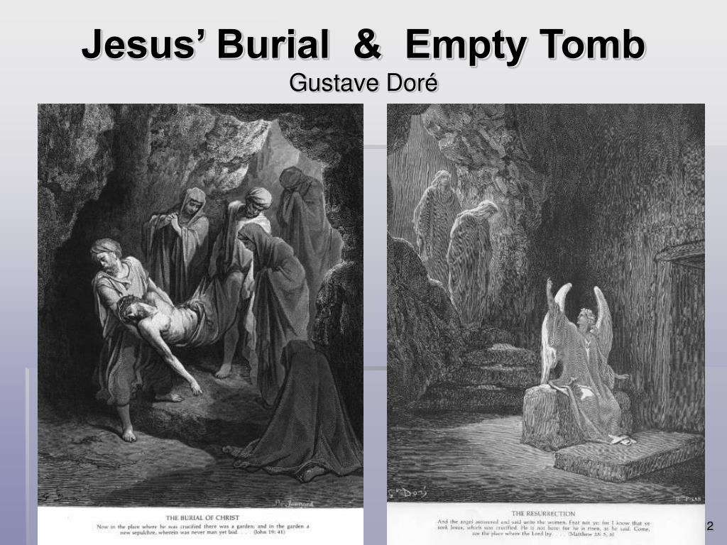 Jesus' Burial  &  Empty Tomb