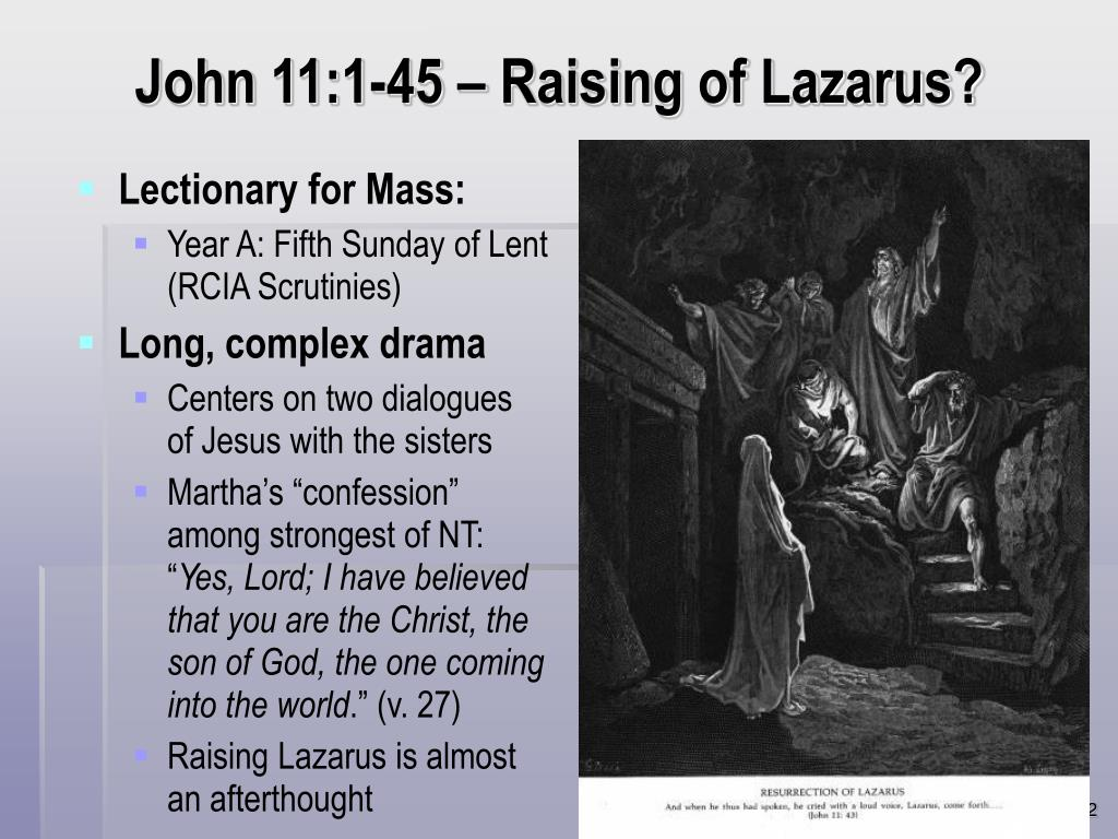 John 11:1-45 – Raising of Lazarus?