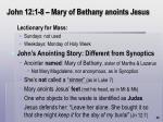 john 12 1 8 mary of bethany anoints jesus65