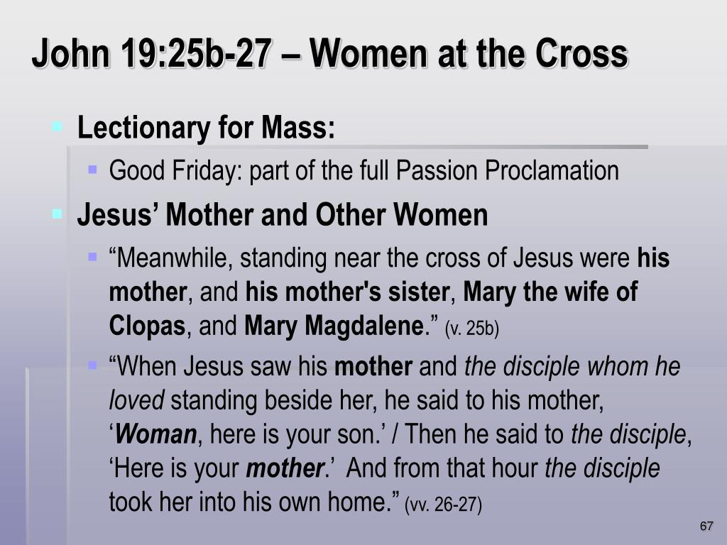 John 19:25b-27 – Women at the Cross