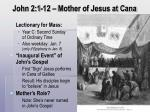 john 2 1 12 mother of jesus at cana
