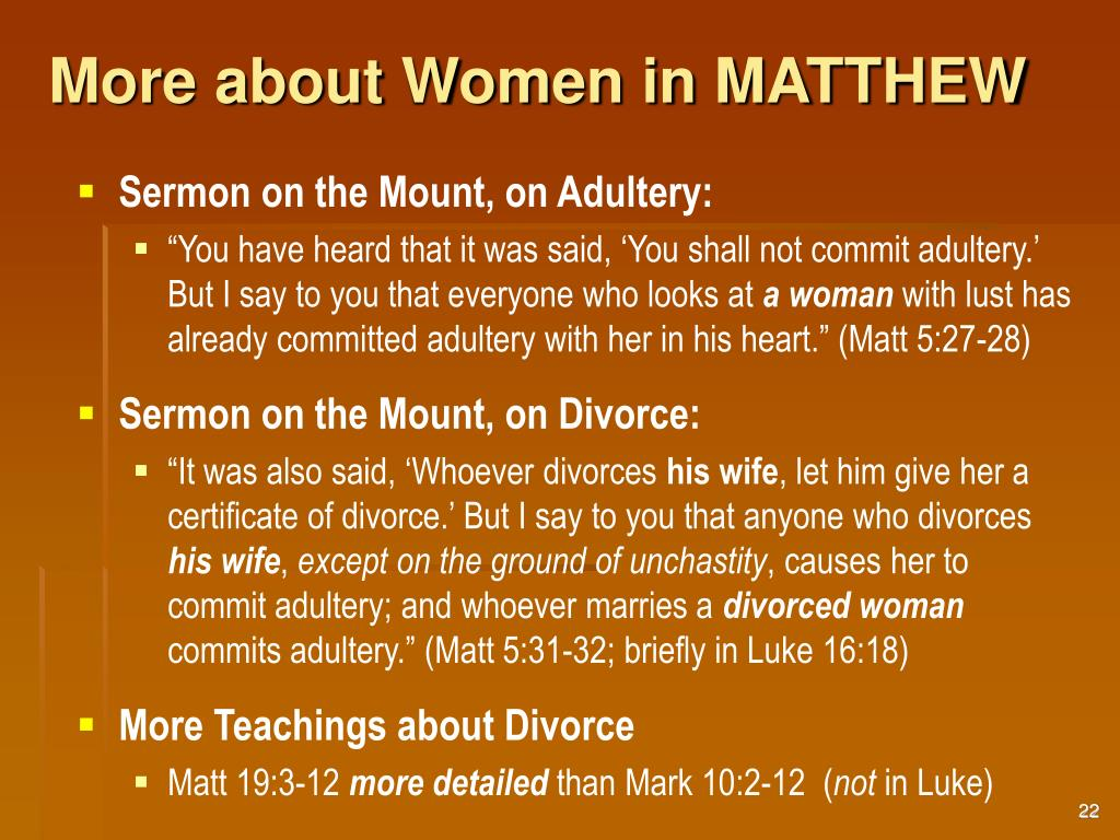 More about Women in MATTHEW