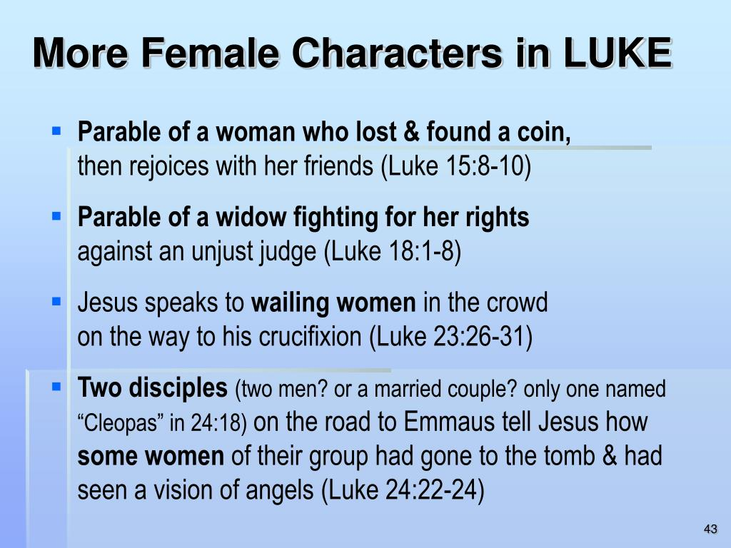 More Female Characters in LUKE