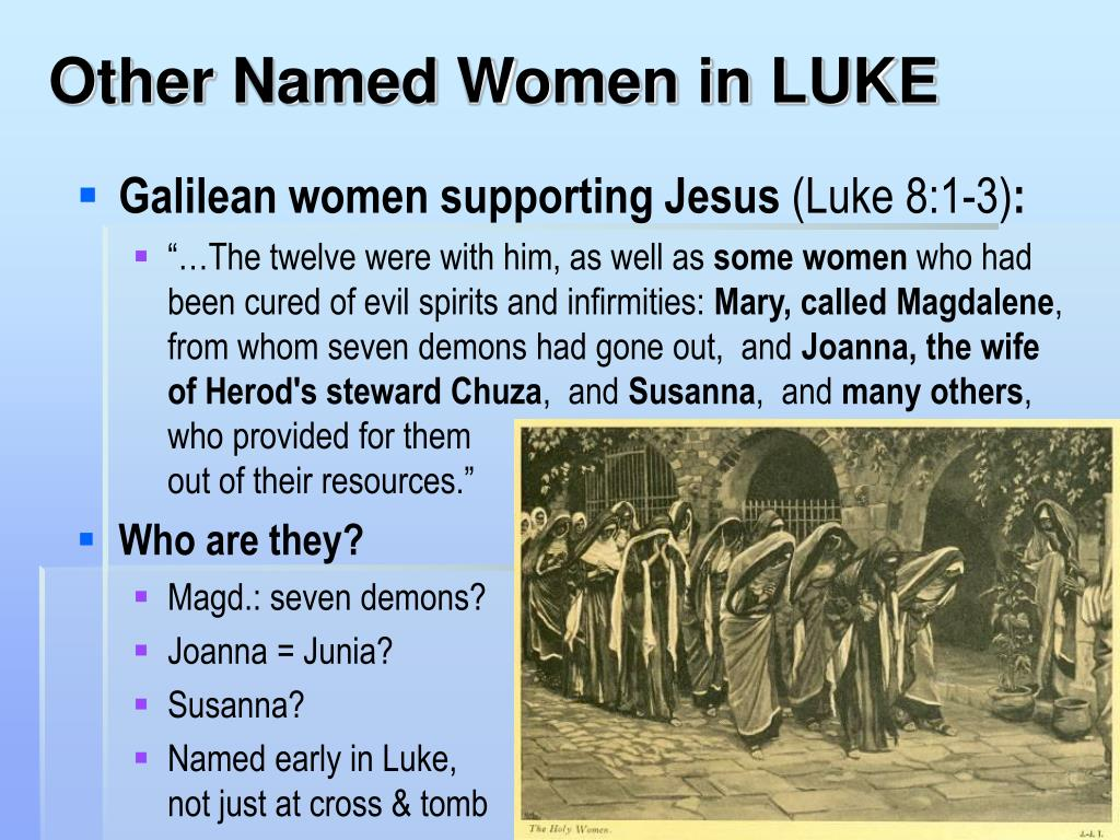 Other Named Women in LUKE