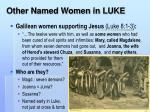 other named women in luke