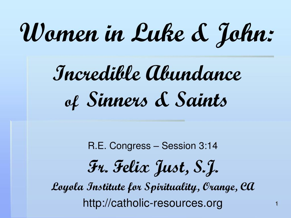 Women in Luke & John: