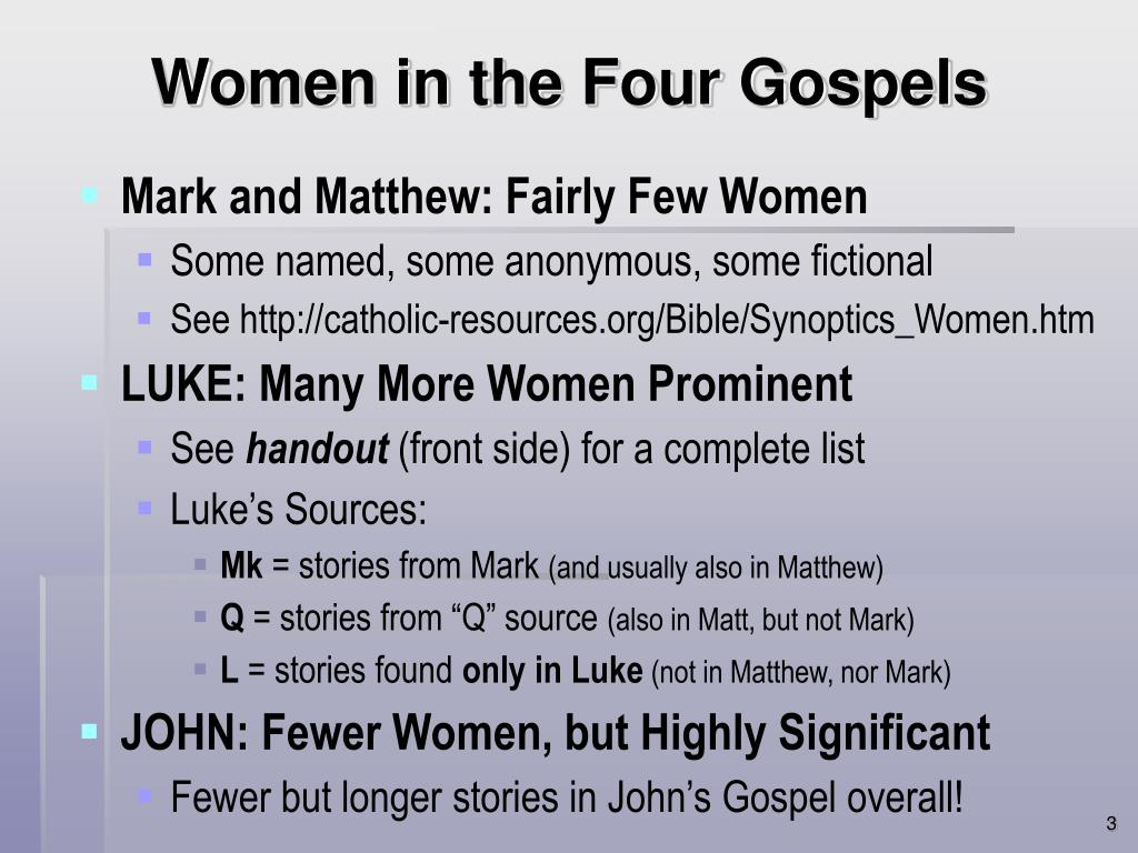 Women in the Four Gospels