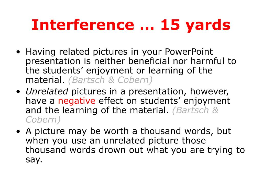 Interference … 15 yards