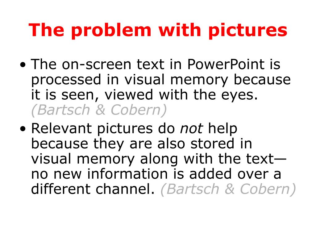 The problem with pictures