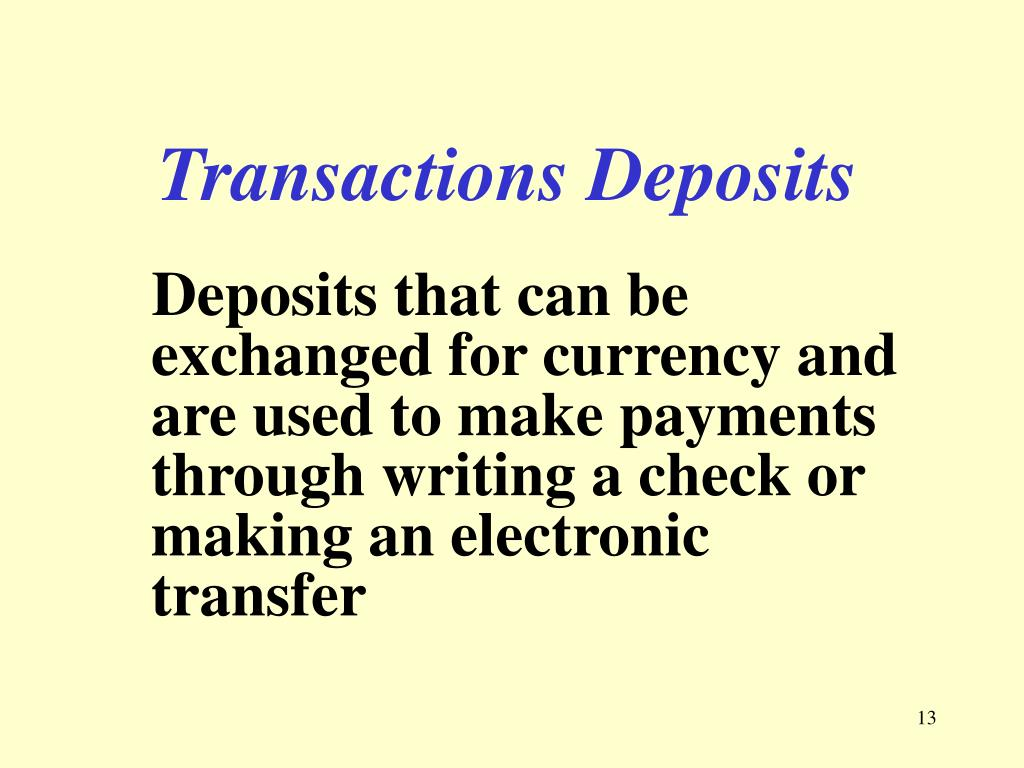 Transactions