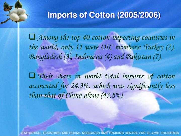 Imports of Cotton (2005/2006)