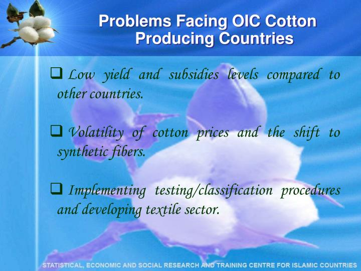 Problems Facing OIC Cotton Producing Countries