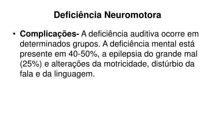 Deficiência Neuromotora