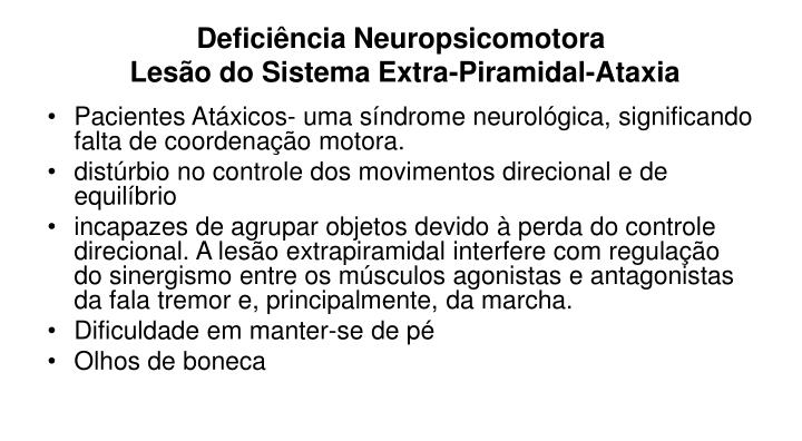 Deficiência Neuropsicomotora