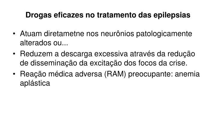 Drogas eficazes no tratamento das epilepsias