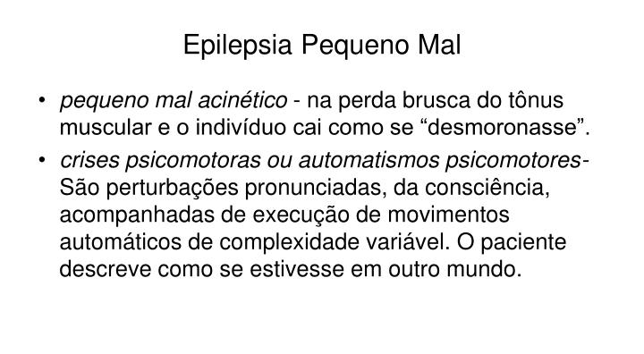 Epilepsia Pequeno Mal