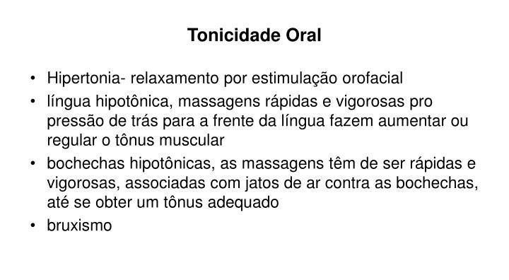 Tonicidade Oral