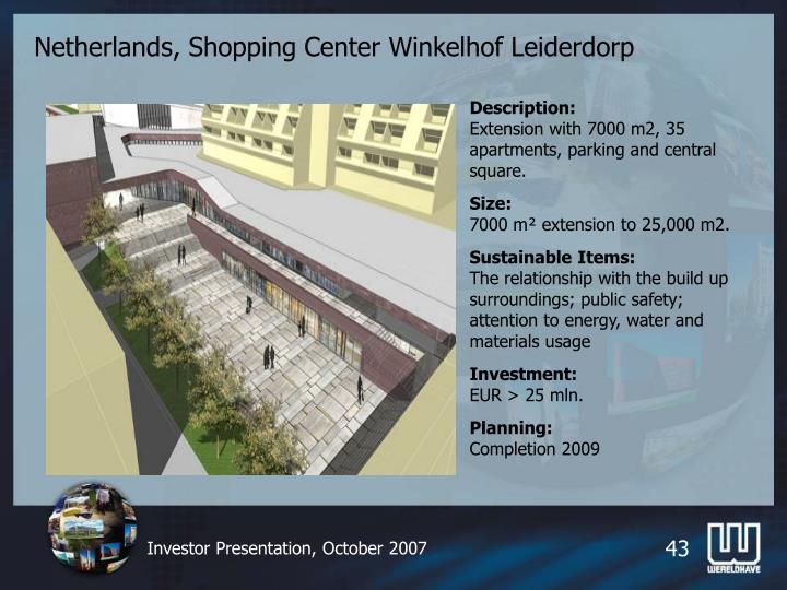 Netherlands, Shopping Center Winkelhof Leiderdorp