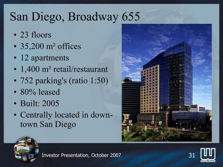 San Diego, Broadway 655