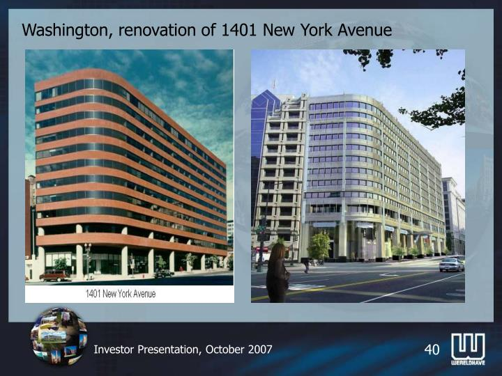 Washington, renovation of 1401 New York Avenue