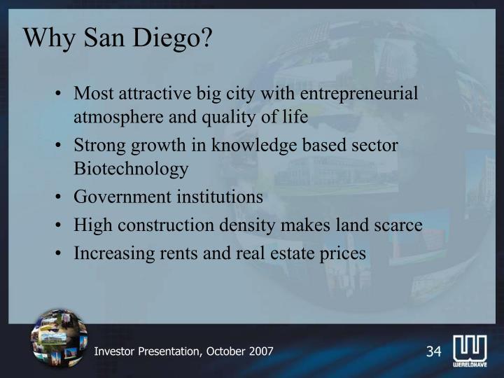 Why San Diego?