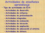 actividades de ense anza aprendizaje