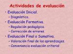 actividades de evaluaci n